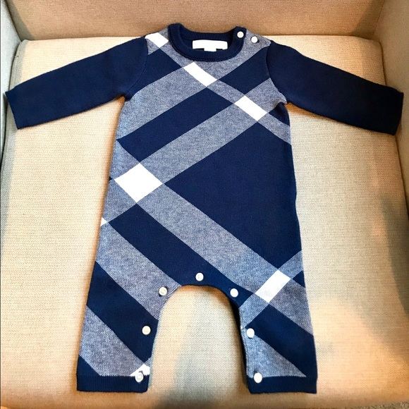 Burberry Infant Cashmere Blend Jumpsuit